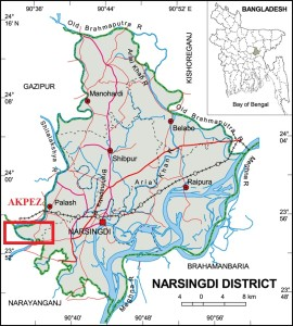 Narsingdi District Map